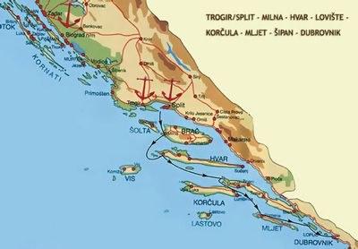 Ruta desde Split a Dubrovnik