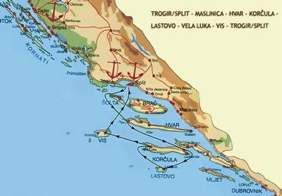 Ruta desde Split a Split