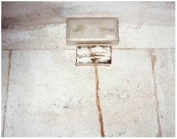 Estación de pared sobre cordón termítico