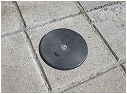 Tapa de estación suelo en vía pública
